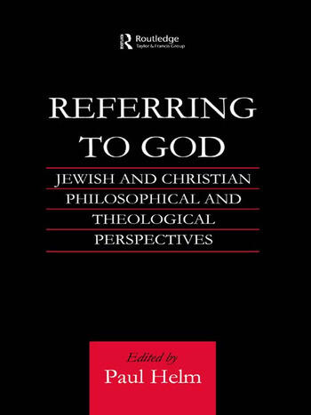 Referring to God Jewish and Christian Perspectives book cover
