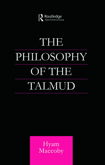 Philosophy of the Talmud book cover