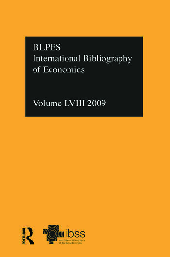 IBSS: Economics: 2009 Vol.58 International Bibliography of the Social Sciences book cover