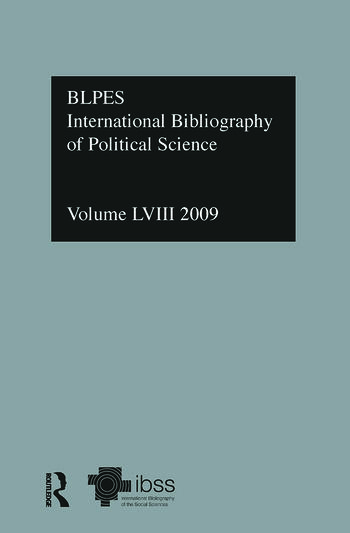 IBSS: Political Science: 2009 Vol.58 International Bibliography of the Social Sciences book cover