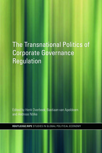 The Transnational Politics of Corporate Governance Regulation book cover