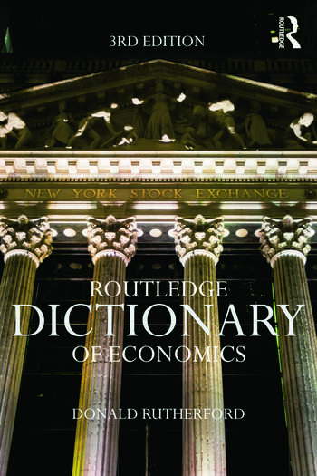 Routledge Dictionary of Economics book cover