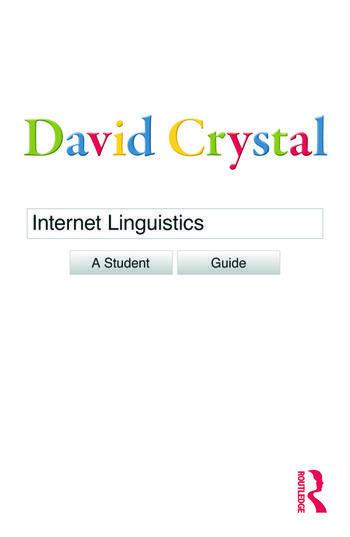 Internet Linguistics A Student Guide book cover