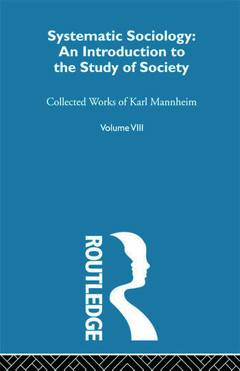 Systematic Sociology V 8 book cover