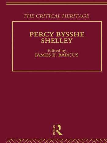 Percy Bysshe Shelley The Critical Heritage book cover