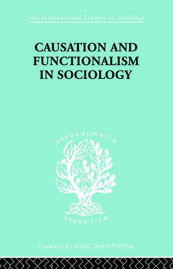 Causation and Functionalism in Sociology book cover