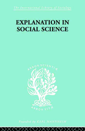 Explanation in Social Science book cover