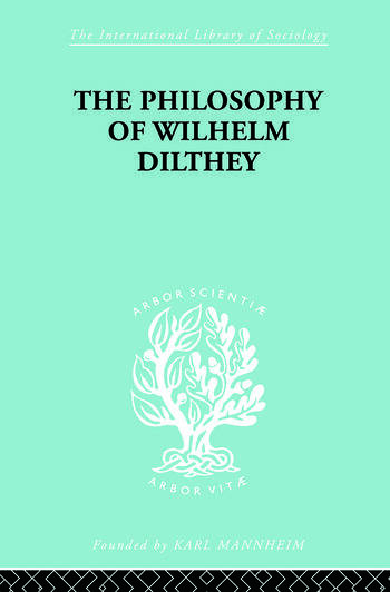 Philosophy of Wilhelm Dilthey book cover