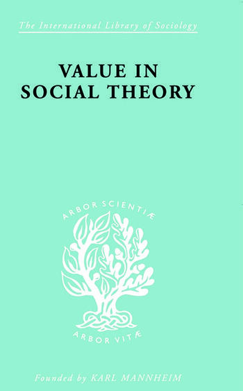 Value in Social Theory book cover