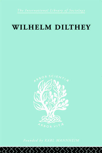 William Dilthey book cover