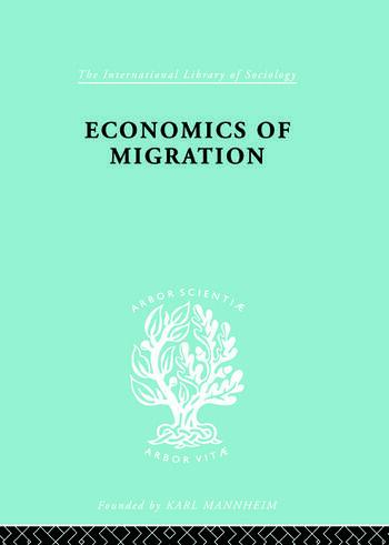 Economics of Migration book cover