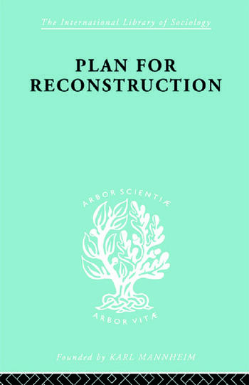 Plan for Reconstruction book cover