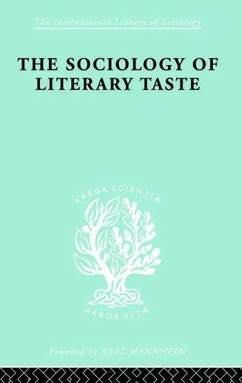 Sociology Lit Taste Ils 90 book cover