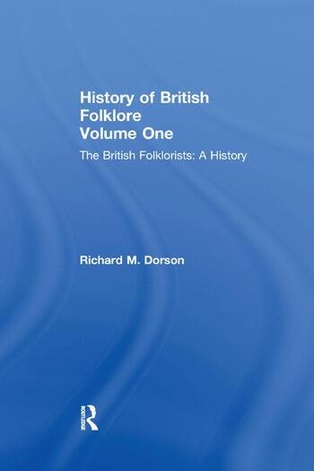 History British Folklore Volume 1 book cover
