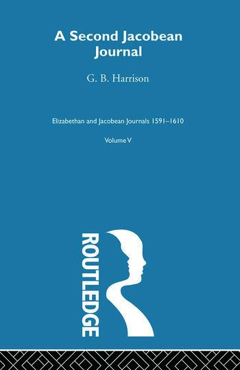 A Second Jacobean Journal V5 book cover