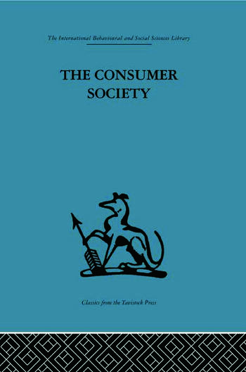 The Consumer Society book cover