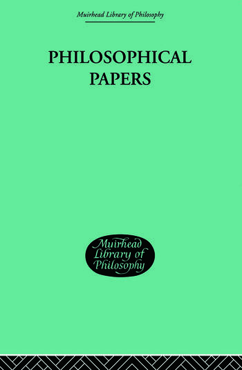 Philosophical Papers book cover