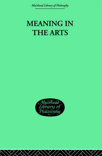 Meaning in the Arts book cover
