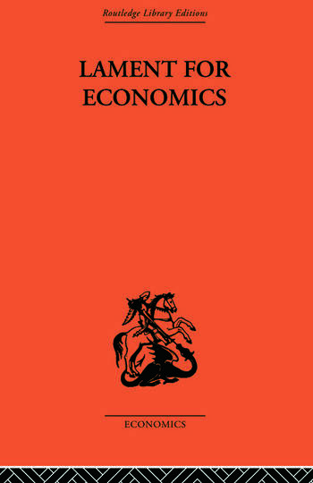 Lament for Economics book cover