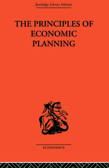 Principles of Economic Planning book cover