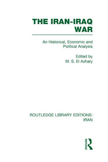 The Iran-Iraq War (RLE Iran A) book cover