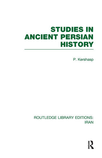 Studies in Ancient Persian History (RLE Iran A) book cover
