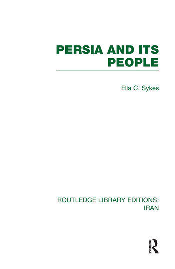 Persia and its People (RLE Iran A) book cover