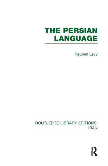 The Persian Language (RLE Iran B) book cover