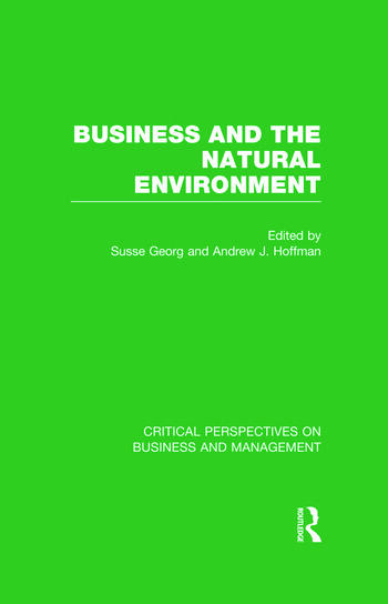 Business and the Natural Environment book cover