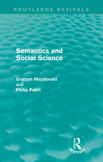 Semantics and Social Science (Routledge Revivals) book cover