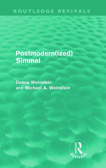Postmodernized Simmel book cover