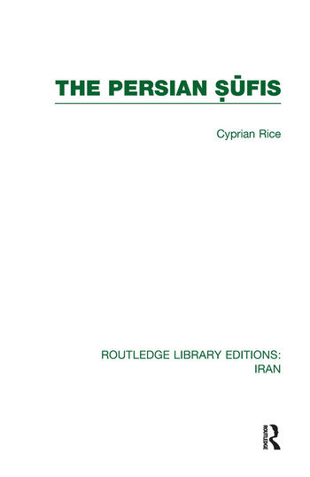 The Persian Sufis (RLE Iran C) book cover