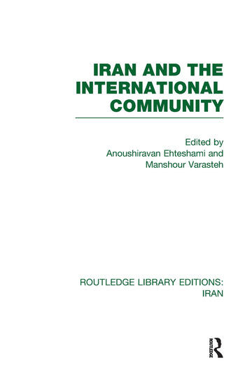 Iran and the International Community (RLE Iran D) book cover