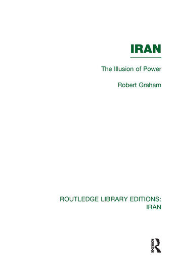 Iran (RLE Iran D) The Illusion of Power book cover