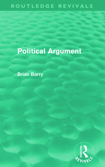 Political Argument (Routledge Revivals) book cover