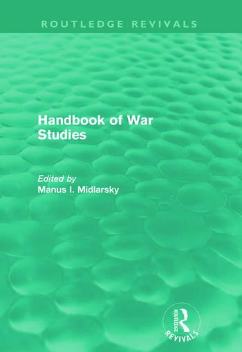 Handbook of War Studies (Routledge Revivals) book cover
