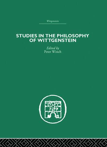 Studies in the Philosophy of Wittgenstein book cover