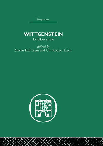 Wittgenstein To Follow a Rule book cover