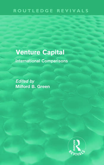 Venture Capital (Routledge Revivals) International Comparions book cover