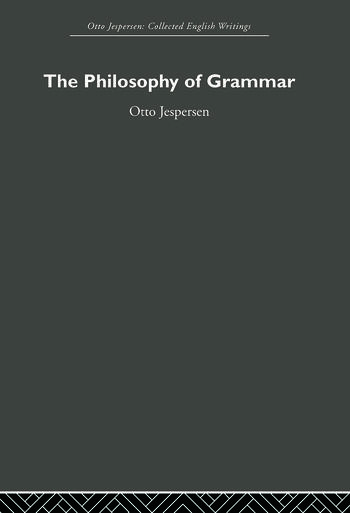 The Philosophy of Grammar book cover