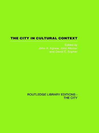 The City in Cultural Context book cover