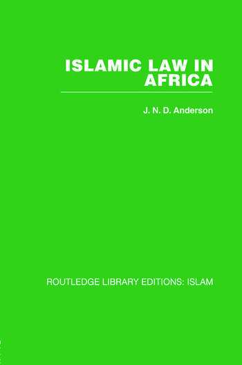 Islamic Law in Africa book cover
