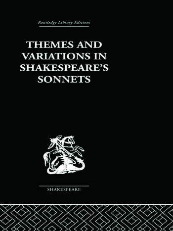 Themes and Variations in Shakespeare's Sonnets book cover