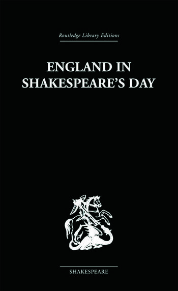 England in Shakespeare's Day book cover