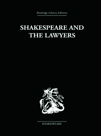 Shakespeare and the Lawyers book cover