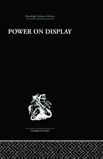 Power on Display The Politics of Shakespeare's Genres book cover