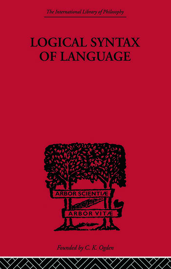 Logical Syntax of Language book cover