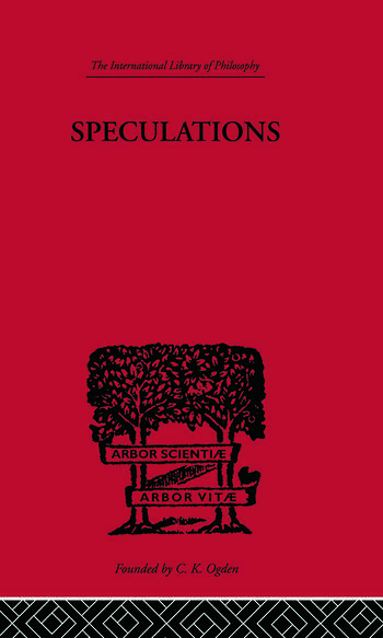 Speculations Essays on Humanism and the Philosophy of Art book cover