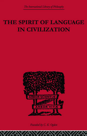 The Spirit of Language in Civilization book cover