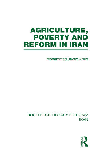 Agriculture, Poverty and Reform in Iran (RLE Iran D) book cover